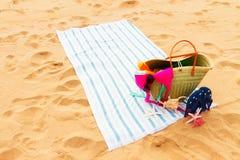Tomar el sol los accesorios Imágenes de archivo libres de regalías