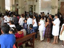 Tomar la comunión en San Marcos Fotos de archivo libres de regalías
