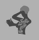Tomar la foto de Selfie en icono elegante del concepto del teléfono libre illustration