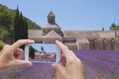 Tomar la imagen de la abadía de Senanque Fotografía de archivo