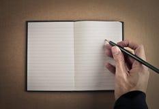 Tomar notas Fotos de archivo libres de regalías