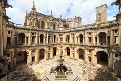 Tomar-Portal of Church Convento de Cristo Stock Images