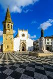 Main square praca da republica, in Tomar Royalty Free Stock Photo