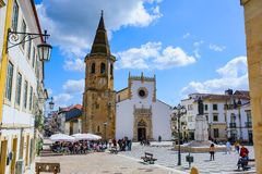TOMAR, PORTUGAL - MARCH 31, 2018. Tomar city view royalty free stock photo