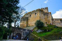 TOMAR, PORTUGAL - MARCH 31, 2018. Tomar city view stock photos