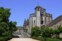Tomar-Schloss in Portugal Stockbild