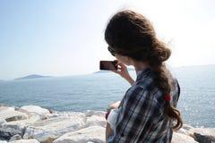 Tomar Selfie Imagenes de archivo