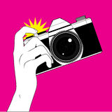 Tomar una fotografía Fotos de archivo libres de regalías