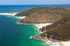 Tomaree Head. View from Tomaree Head Lookout, New South Wales Australia royalty free stock photo