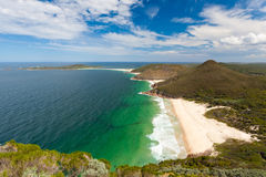 Tomaree Head. View from Tomaree Head Lookout, New South Wales Australia royalty free stock photos