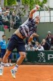Tomas Berdych στην τρίτη στρογγυλή αντιστοιχία, Roland Garros 2014 Στοκ εικόνες με δικαίωμα ελεύθερης χρήσης