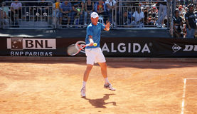 Tomas Berdych. Plays his second round match against Juan Monaco at Internazionali BNL, Rome Stock Images