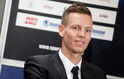 Tomas Berdych. Czech tennis player Tomas Berdych during press conference in Prague, December 19, 2012 Royalty Free Stock Images