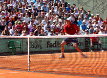 Tomas Berdych chez Roland Garros 2011 Photo stock
