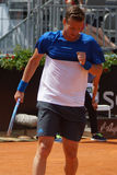 Tomas Berdych (CZE). ROME, ITALY - MAY 10, 2016: Tomas Berdych (CZE) during his 2nd round match at the Internazionali BNL d'Italia in Rome, Italy Stock Images