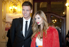 Tomas Berdych and Ester Satorova stock photo