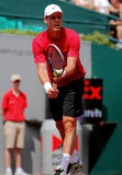 Tomas Berdych Tennis  2012. 2012 World Team Cup. This photo shows Czech player Tomas Berdych during his singles match with Andy Roddick of the Czech-Republic Royalty Free Stock Photo