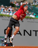 Tomas Berdych Tennis  2012. 2012 World Team Cup. This photo shows Czech player Tomas Berdych during his singles match with Andy Roddick of the Czech-Republic Royalty Free Stock Photos