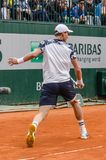 Tomas Berdych in third round match, Roland Garros 2014 Stock Images