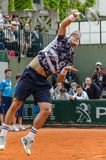 Tomas Berdych in third round match, Roland Garros 2014 Royalty Free Stock Images