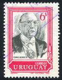 Tomas Berreta. URUGUAY - CIRCA 1969: stamp printed by Uruguay, shows Tomas Berreta, circa 1969 Royalty Free Stock Photos