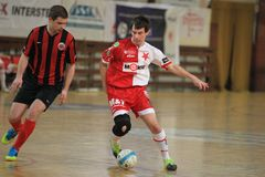 Tomas Fichtner - Slavia Prague futsal Stock Photography