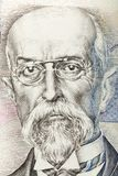Tomas Garrigue Masaryk on czech banknote. Nominal value five thousand crowns, money business banking concept Stock Image