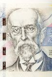 Tomas Garrigue Masaryk on czech banknote. Nominal value five thousand crowns, money business banking concept Stock Photos