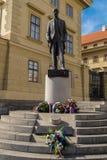 Tomas Garrique Masaryk的纪念碑 库存照片