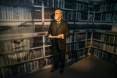 Tomas Garyk Masaryk in Grevin museum of the wax figures in Prague. Royalty Free Stock Image