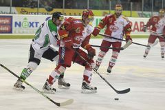 Tomas Hertl - Slavia Praga contra Mlada Boleslav Foto de Stock Royalty Free