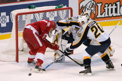 Tomas Holmstrom Battles Ryan Suter Royalty Free Stock Images