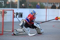 Tomas Humlicek - czech ball hockey Royalty Free Stock Photos