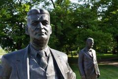 Tomas and Jan Antonin Bata statue in Zlin, Czech Republic