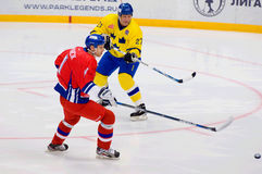 Tomas Kucharcik (17) versus Thomas Eriksson (27) Royalty-vrije Stock Fotografie