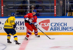 Tomas Kucharcik (17) vs Jens Ohling (11) Royaltyfri Bild