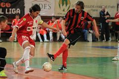 Tomas Matejka - Slavia Prague futsal Royalty Free Stock Photography