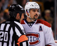 Tomas Plekanec Montreal Canadiens Lizenzfreie Stockbilder
