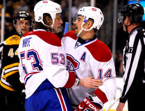 Tomas Plekanec and Ryan White Royalty Free Stock Photography