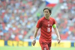 Tomas Rosicky. PRAGUE 05/06/2015 _ Tomas Rosicky, capitain of Czech Republic team. Friendly match Czech Reublic - South Korea Royalty Free Stock Images