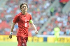 Tomas Rosicky. PRAGUE 05/06/2015 _ Tomas Rosicky, capitain of Czech Republic team. Friendly match Czech Reublic - South Korea Stock Image