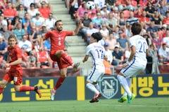 Tomas Sivok. PRAGUE 05/06/2015 _ Friendly match Czech Reublic - South Korea royalty free stock images