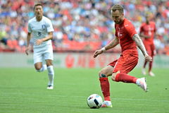 Tomas Sivok. PRAGUE 05/06/2015 _ Friendly match Czech Reublic - South Korea royalty free stock photography