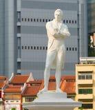 Tomas Stamford Raffles-Monument, Singapur Stockfotografie