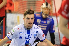 Tomas Sykora - floorball Royalty Free Stock Photo