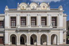 Tomas Terry Theater Cienfuegos, Cuba stock foto