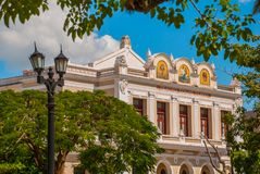Tomas terry theater from inside in Cienfuegos, Cuba.  royalty free stock photography