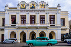 Tomas Terry Theater in Jose Marti Park in Cienfuegos, Cuba royalty-vrije stock foto's