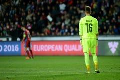 Tomas Vaclik. PRAGUE 10/10/2015 _ Match of the EURO 2016 qualification group A Czech Republic - Turkey stock images