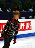 Tomas Verner portrait. ISU European Figure Skating Championship 2009 in Helsinki, Finland. Tomas Verner from Czech Republic on morning training before Men's Free Stock Photography